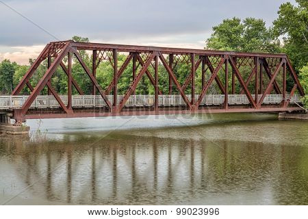 trestle on Katy Trail in Missouri near Mokane - 237 mile bike trail stretching across most of the state of Missouri converted from abandoned railroad