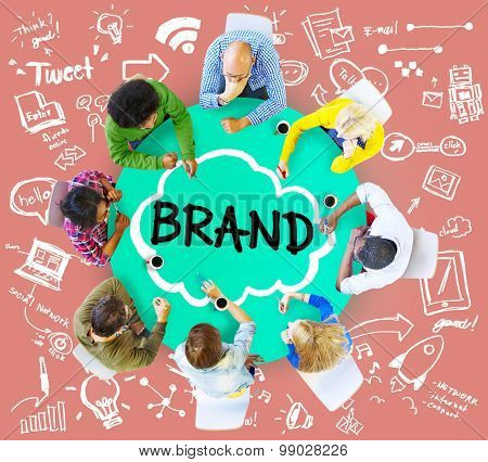 Brand Commercial Marketing Product Branding Concept poster