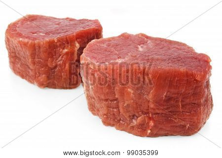 fresh beef isolated on white