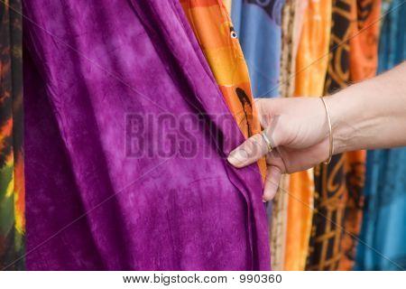Touching Fabric 1