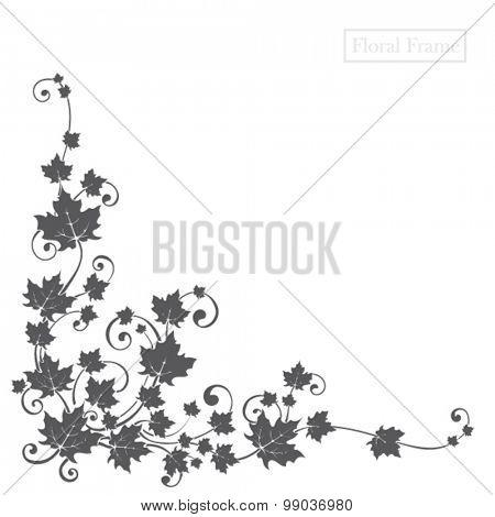 floral design element for frame or background