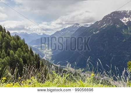 View Of Piora Valley In Ticino