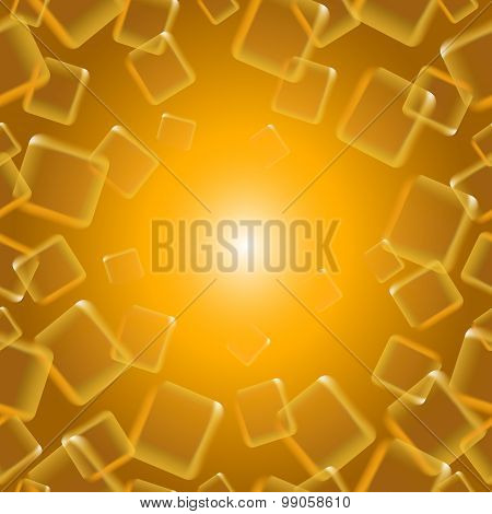 Golden Seamless Background Of Squares