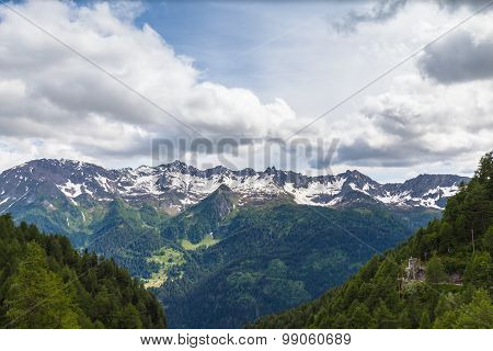 Panorama View Of The Alps In Ticino