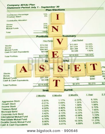 Investment Assets In Retirement Plan