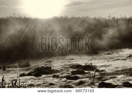 Dawn Over Rushing River