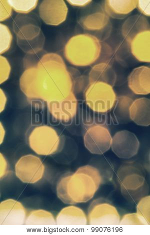 the abstract duo- tone background; defocused lights