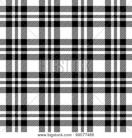 Checkered Tablecloths Pattern Endlessly - Black