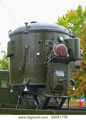 Soviet World War 2 Carbon Arc Searchlight 3-15-4 On Flatbed Truck.