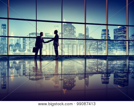 Businessmen Deal Business Handshake Greeting Concept