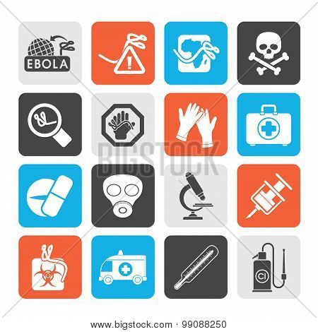 Silhouette Ebola pandemic icons