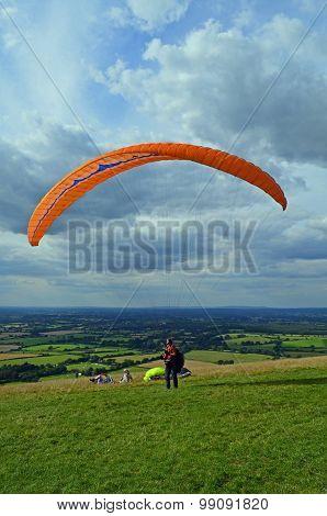 Paragliding on Devils Dyke.