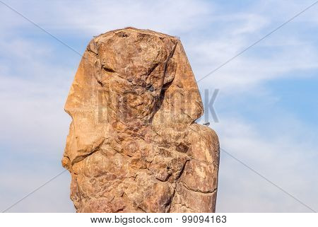 West Or South Colossus Of Memnon, Luxor, Egypt