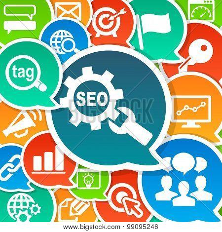 SEO Search Engine Optimization Marketing Background