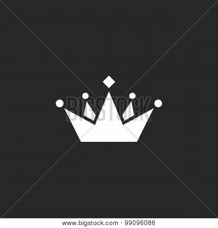 Mockup Crown Logo Or Icon, Black And White Template Business Card, Graphic Design