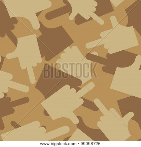 Military Texture Of  Fuck. Camouflage Army Seamless Pattern Of Fuck. Desert Seamless Background For
