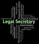 Legal Secretary Representing Queen's Counsel And Position poster