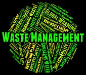 Waste Management Meaning Get Rid And Rubbish poster