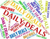 Daily Deals Meaning Every Day And Dealing poster