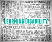 Learning Disability Words Meaning Special Needs And Gifted poster