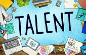 Talent Gifted Skills Abilities Capability Expertise Concept poster