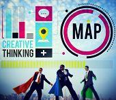 Map Direction Destination Location Route Concept poster