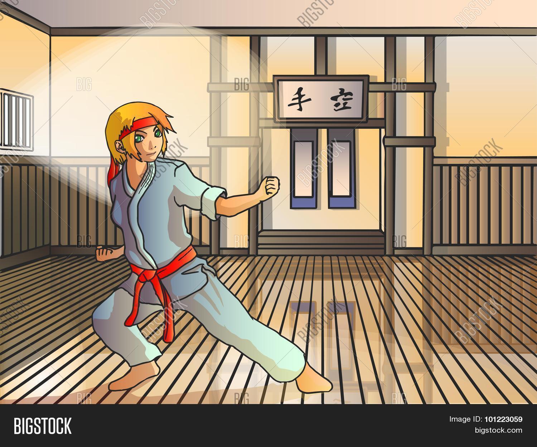 Vector Anime Karate Vector Photo Free Trial Bigstock