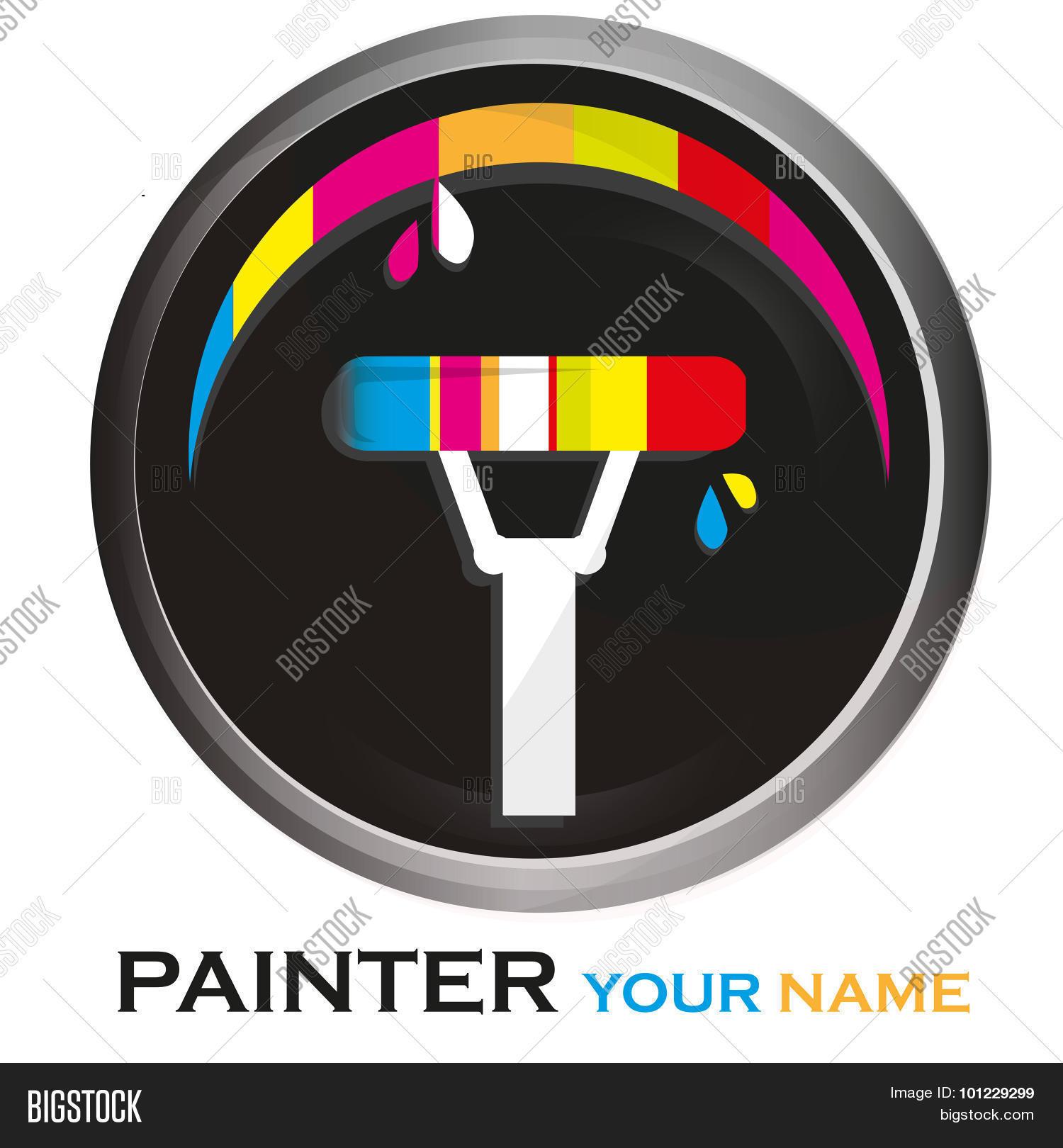 painter logo vector photo free trial bigstock