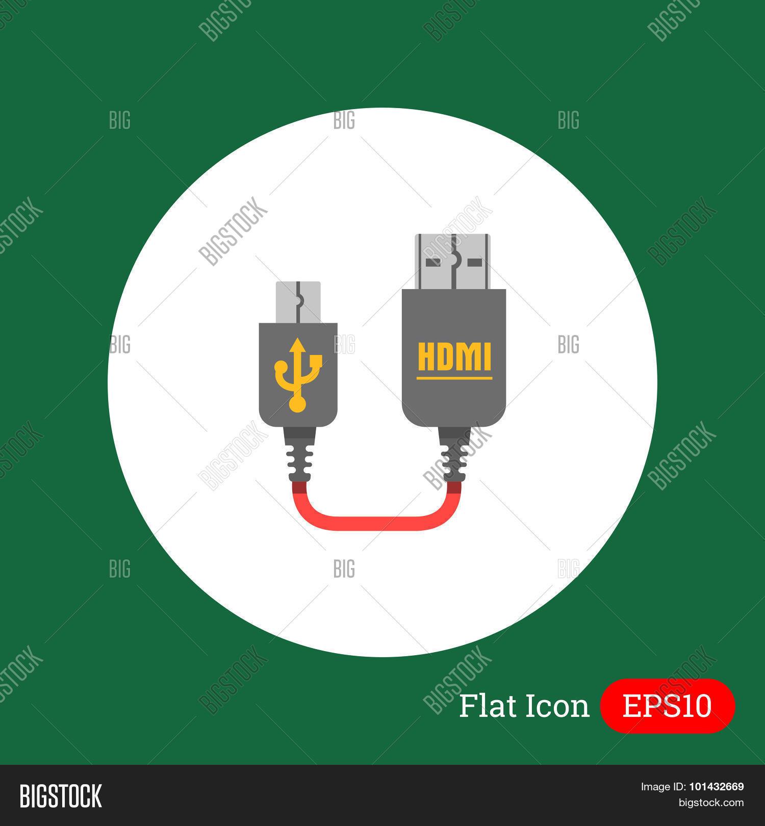 Mini Usb Hdmi Cable Vector Photo Free Trial Bigstock