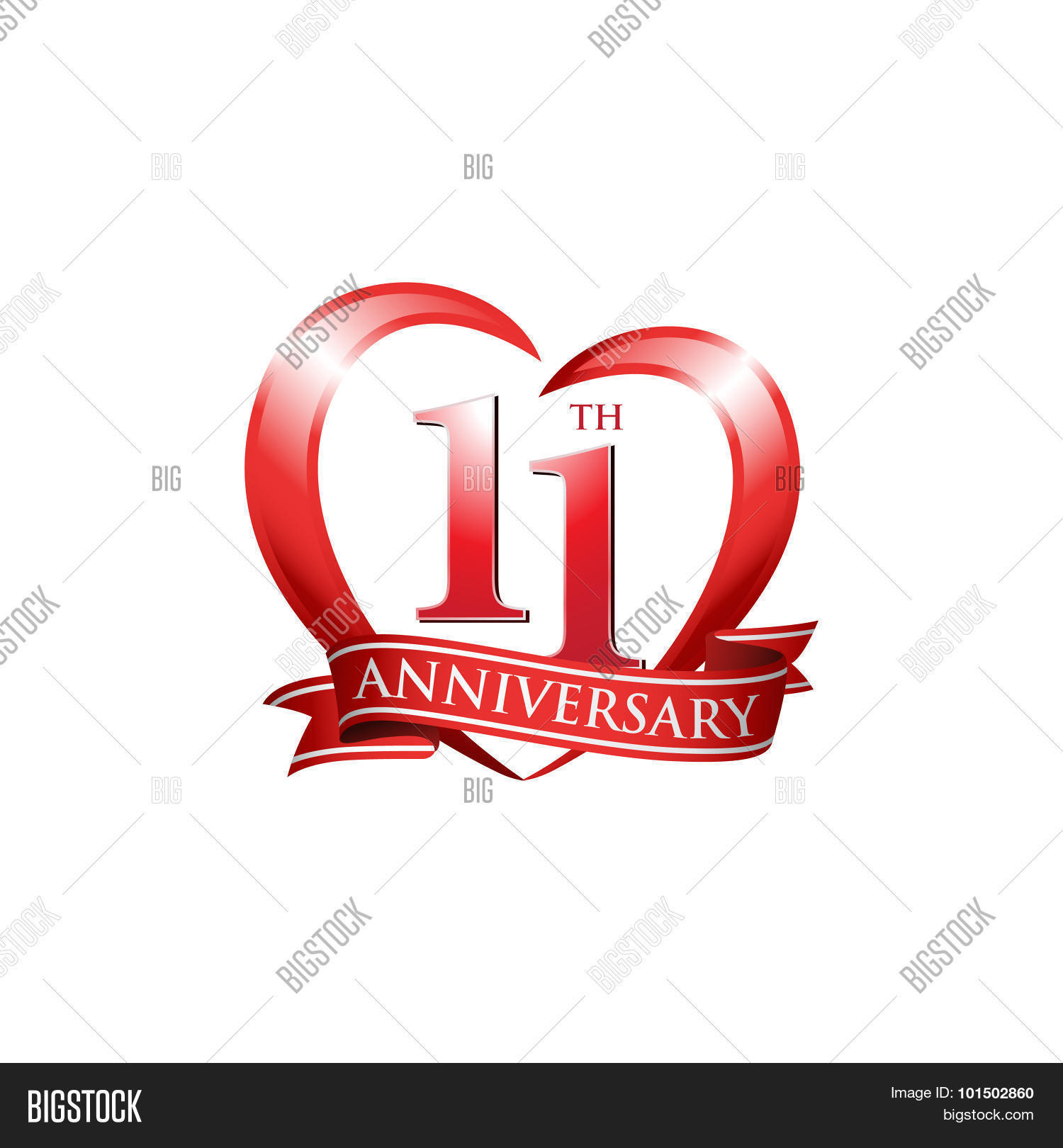 11th anniversary logo vector photo free trial bigstock