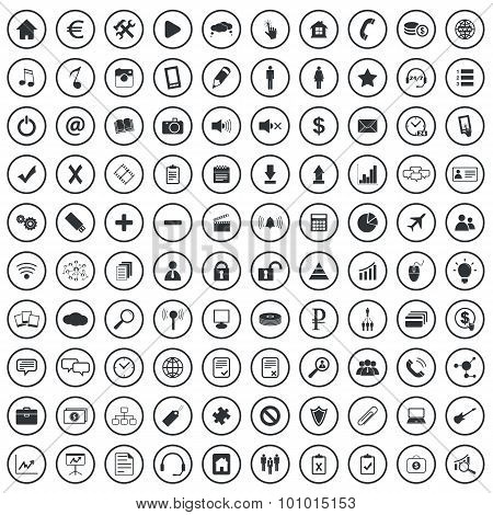 Webdesign sign icons set
