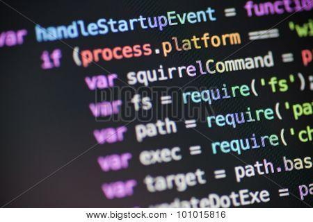 Javascript Node JS code