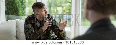 Soldier Talking About War
