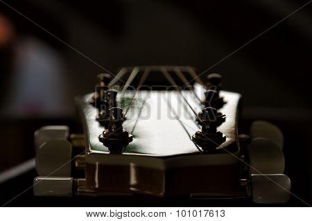 The guitar fretboard