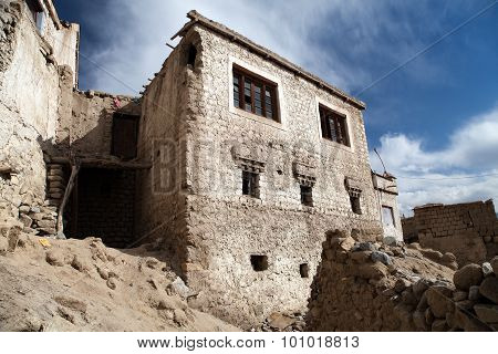 Detail From Old Town - Leh - Ladakh - Jammu And Kashmir