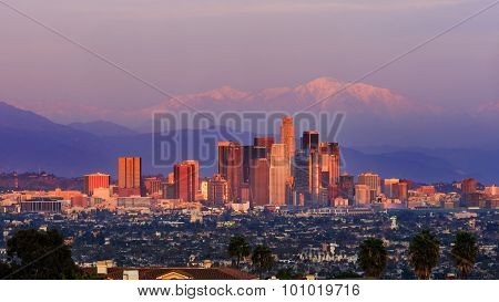 Classical View Of Los Angeles Downtown