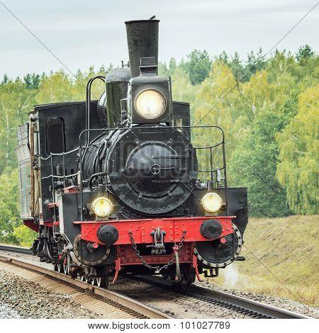 Retro Steam Locomotive.