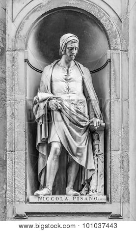 Statue Of Niccola Pisano In Florence