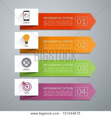 Vector arrow design elements for infographics