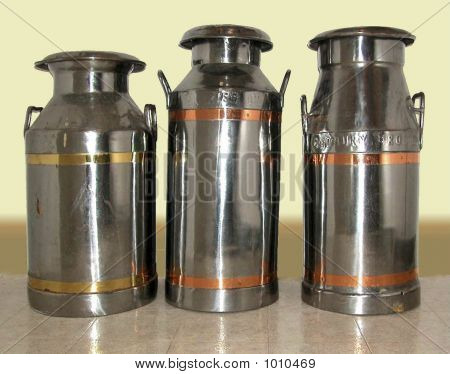 Three Milk Cans