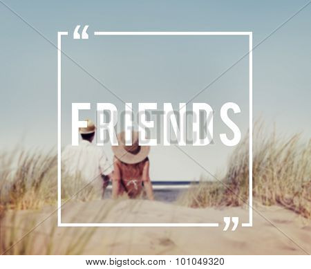 Friends Friendship Companionship Fellowship Togetherness Concept poster