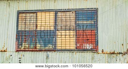 Corrugated Iron Shed Window
