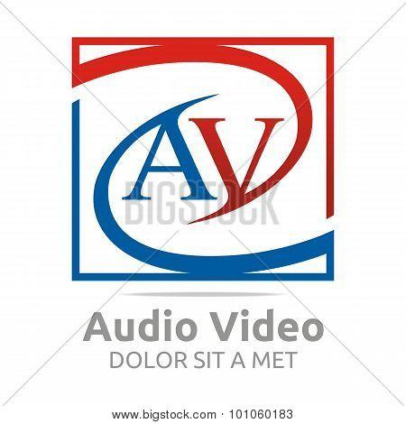 Abstract symbol logo av letter design