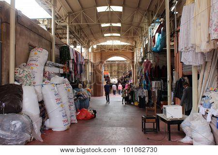 A covered market in Agadir, Morocco.