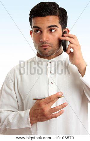 Ethnic Business Man Using Phone
