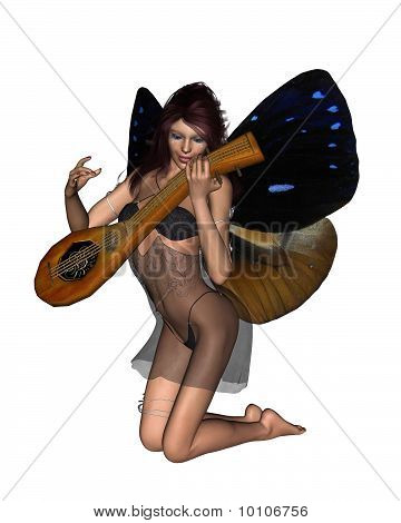 Fairy Playing a Lute