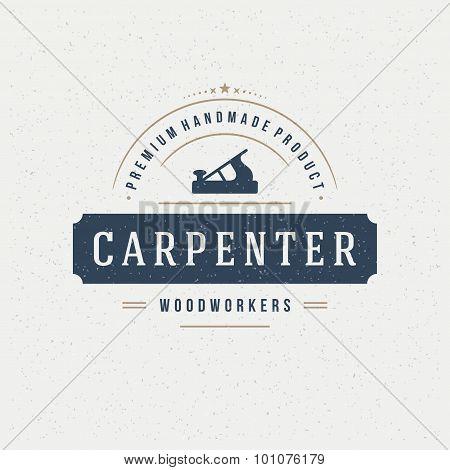 Carpenter Design Element in Vintage Style for Logotype