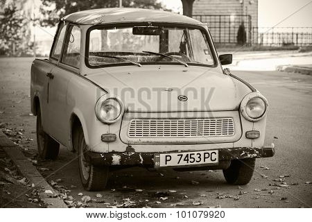 Old Trabant 601S Car On The Street