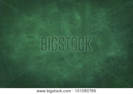 plain green chalkboard blank background