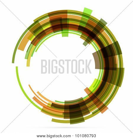 Abstract retro technology circle. Vector .
